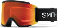 Smith Squad XL ChromaPop Goggles + Bonus Lens - black/sun red mirror lens + storm rose flash lens