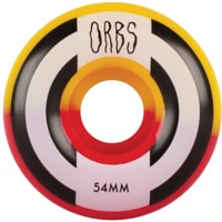Orbs Apparitions Skateboard Wheels - red/yellow splits (99a)