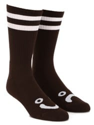 Polar Skate Co. Happy Sad Classic Sock - brown