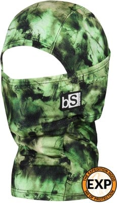 BlackStrap The Kids Expedition Hood Balaclava - tactics limited print 1 (tie dye mono green) - view large