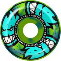 Spitfire Formula Four Conical Full Skateboard Wheels - blue/green swirl afterburners (99d)