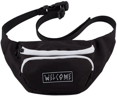 Welcome Scrawl Waist Bag - black/white - view large