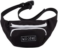 Welcome Scrawl Waist Bag - black/white