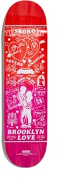 5boro Lucky Brooklyn 8.0 Skateboard Deck - red-pink fade