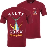 Salty Crew Tailed T-Shirt - burgundy