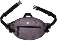 Magenta Banana Ripstop Hip Bag - dark grey
