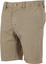 RVCA All Time Coastal Solid Hybrid Shorts - dark khaki