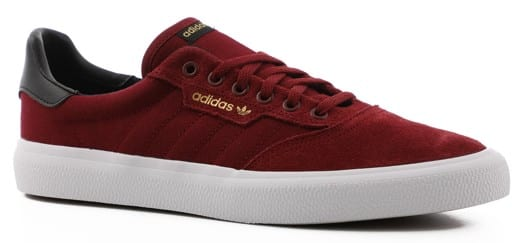 Adidas 3MC Skate Shoes - collegiate burgundy/core black/gold metallic - view large