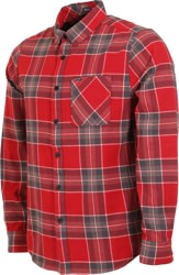 Volcom Caden Plaid Flannel Shirt - burgundy