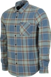 Volcom Caden Plaid Flannel Shirt - indigo
