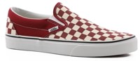 Vans Classic Slip-On Shoes - (checkerboard) rumba red/true white
