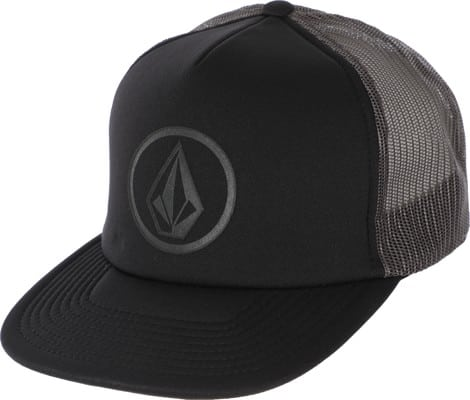 Volcom Full Frontal Trucker Hat - asphalt black - view large