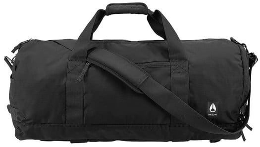 Nixon Pipes 45L Duffle Bag - all black nylon - view large