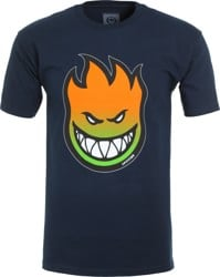 Spitfire Bighead Fade Fill T-Shirt - navy/red-green fade