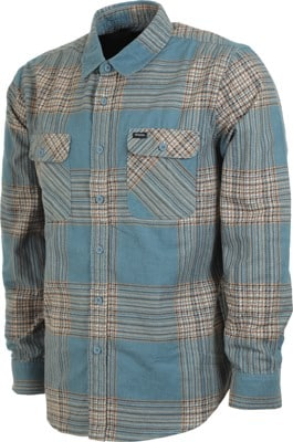 Brixton Bowery LW Flannel Shirt - atlantic - view large