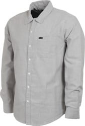 Brixton Charter Oxford L/S Shirt - grey