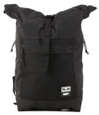Obey Conditions Roll Top Backpack - black