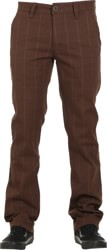 Brixton Reserve Chino Pants - brown plaid