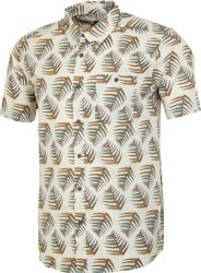Patagonia Go To S/S Shirt - palms of my heart:  dyno white