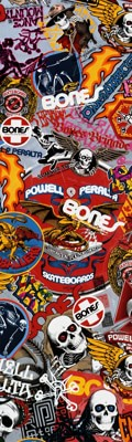 Powell Peralta OG Stickers Graphic Skateboard Grip Tape - view large