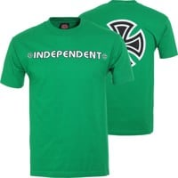 Independent Bar/Cross T-Shirt - kelly green