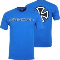Independent Bar/Cross T-Shirt - royal blue