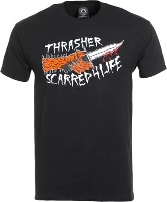 Thrasher Scarred T-Shirt - black - view large