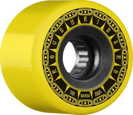 Bones ATF Rough Riders Skateboard Wheels - tank yellow(80a) - view large