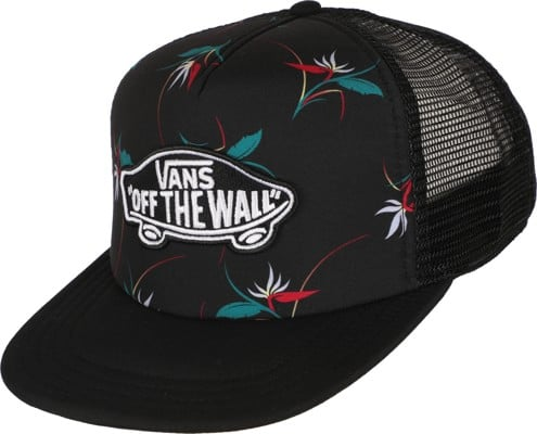 Vans Classic Patch Plus Trucker Hat - black open shade floral - view large