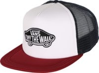 Vans Classic Patch Trucker Hat - white/rhumba red