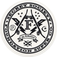 Foundation Secret Society Sticker - white/black