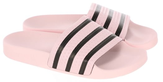 Adidas Originals Adilette W Slide Sandals - clear pink/clear pink/core black - view large