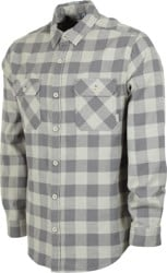 Burton Brighton Flannel Shirt - pelican heather buffalo plaid