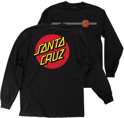 Santa Cruz Kids Classic Dot L/S T-Shirt - black - view large