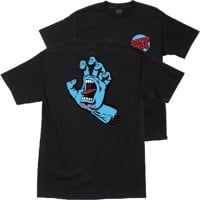 Santa Cruz Kids Screaming Hand T-Shirt - black/blue