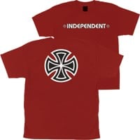 Independent Kids Bar/Cross T-Shirt - cardinal