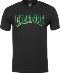 Creature Logo Outline T-Shirt - black