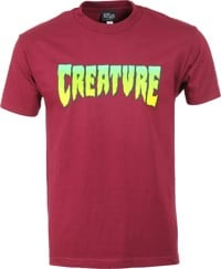 Creature Logo T-Shirt - burgundy