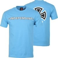 Independent Bar/Cross T-Shirt - carolina blue