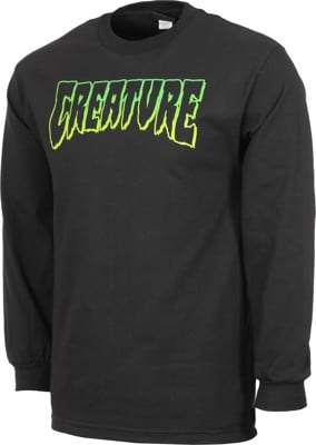 Creature Logo Outline L/S T-Shirt - black - view large