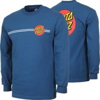 Santa Cruz Classic Dot L/S T-Shirt - harbor blue