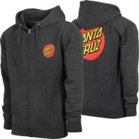 Santa Cruz Classic Dot Zip Hoodie - charcoal heather