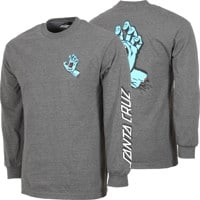 Santa Cruz Screaming Hand L/S T-Shirt - charcoal heather