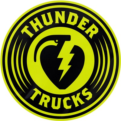 Thunder Charged MD Sticker - black/lime - view large