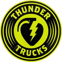Thunder Charged MD Sticker - black/lime