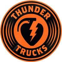 Thunder Charged MD Sticker - black/orange