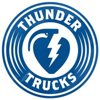 Thunder Charged MD Sticker - blue/white