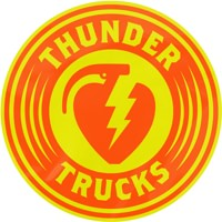 Thunder Charged MD Sticker - orange/yellow
