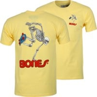 Powell Peralta Skate Skeleton T-Shirt - yellow