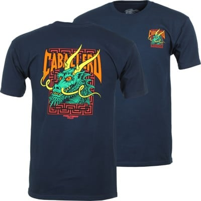 Powell Peralta Caballero Street Dragon T-Shirt - navy - view large